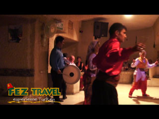 View our Kylie experiences a tradition Turkish night in Cappadocia whilst giving a local belly dancer a run for her money! [0:16]